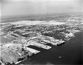 Port of Palm Beach aerial 1950s