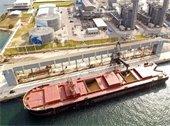Sugar barge loads at Port of Palm Beach
