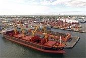 Port of Palm Beach Steel Ship
