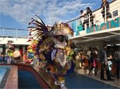 The Junkanoo Gawds performing on the Grand Celebration