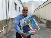 South Florida Materials Terminal Manager Eddie Palenzuela donating toys