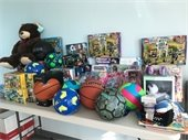 Toys collected for Northmore Elementary School students.