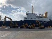 Heavy duty equipment shipped on Duke of Top Sail