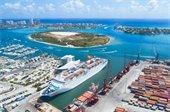 Aerial of Port of Palm Beach