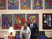 U.S. Representative Lois Frankel and Port Director Manuel Almira