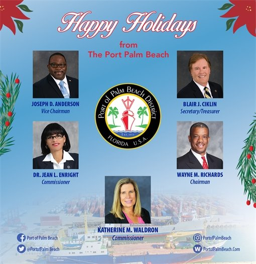 Happy Holidays from the Port of Palm Beach