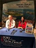 Port staff pictured at Palm Beach State College in Palm Beach Gradens before the Supply Chain Management Kickoff & Expo.