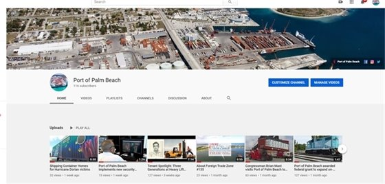 Still image of Port YouTube page.
