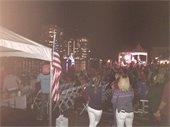 Crowd at holiday boat parade