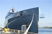 Mega yacht first to utilize berth one after construction