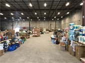 Donations at the Palm Beach County Cares warehouse