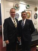 Port of Palm Beach Executive Director Manuel Almira and U.S. Representative Mario Diaz-Balart
